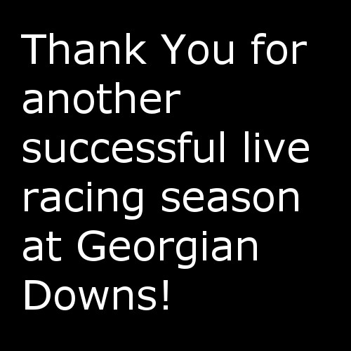 Thank you for a successful Live racing Season